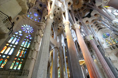 La Sagrada Familia interior Stock Photography