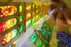 La Sagrada Familia, interior Royalty Free Stock Photography