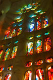 La Sagrada Familia Interior window Royalty Free Stock Photos