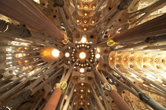 La Sagrada Familia, Interiors Stock Images