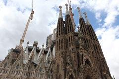 La Sagrada Familia, le Ca irréaliste Photo stock
