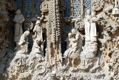La Sagrada Familia - Nativity. Commisioned in 1882 by the catholic group the Josephines, Antoni Gaudi's masterpiece of architecture is still in construction Royalty Free Stock Photography