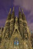 La Sagrada Familia at night view Royalty Free Stock Images