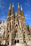 La Sagrada Familia - No Cranes. Commisioned in 1882 by the catholic group the Josephines, Antoni Gaudi's masterpiece of architecture in Barcelona is still in Royalty Free Stock Images
