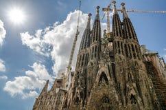 La Sagrada Familia par Antoni Gaudi, à Barcelone Image libre de droits