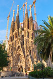 La Sagrada Familia in summer season Stock Photos