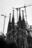 La Sagrada Familia towers at Nacimiento fachade Stock Image
