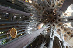 La Sagrada Familia, the unrealistic cathedral Stock Photos