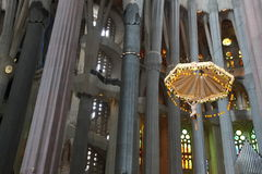 La Sagrada Familia, the unrealistic cathedral designed by Gaud i Royalty Free Stock Photography