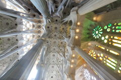 La Sagrada Familia, the unrealistic cathedral designed by Gaud i Stock Photo