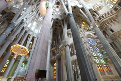 La Sagrada Familia, the unrealistic cathedral designed by Gaud i Stock Images