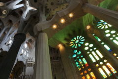 La Sagrada Familia, the unrealistic cathedral designed by Gaud i Royalty Free Stock Images