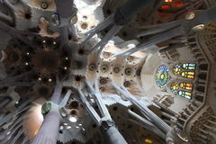 La Sagrada Familia, the unrealistic cathedral designed by Gaud i Stock Photos