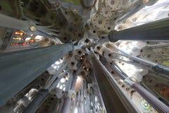 La Sagrada Familia, the unrealistic cathedral designed by Gaud i Stock Photography