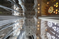 La Sagrada Familia, the unrealistic cathedral designed by Gaud i Royalty Free Stock Image