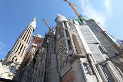 La Sagrada Familia, the unrealistic cathedral designed by Gaudi Royalty Free Stock Photos