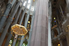 La Sagrada Familia, the unrealistic cathedral designed by Gaudi Royalty Free Stock Image