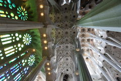 La Sagrada Familia, the unrealistic cathedral designed by Gaudi Stock Image