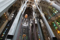 La Sagrada Familia, the unrealistic cathedral designed by Gaudi Stock Images