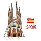 La Sagrada Familia Vector illustration Royalty Free Stock Photography