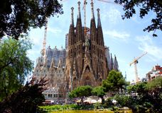 La Sagrada Familiain Barcelona, Spain Stock Photo