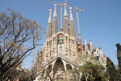 La Sagrada Família - Barcelona Royalty Free Stock Photos