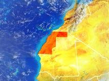 La Sahara occidental sur terre de l'espace illustration libre de droits