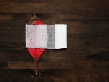 La saignée laisse le monde dans les besoins urgents du bandag Image stock