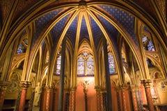 La Sainte-Chapelle Chapel Interior Stock Images