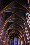 La Sainte-Chapelle Chapel Stained Ceiling Royalty Free Stock Images