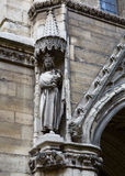 La Sainte-Chapelle Chapel Statue Royalty Free Stock Image