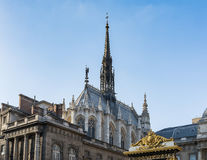 La Sainte Chapelle - Paris stock image