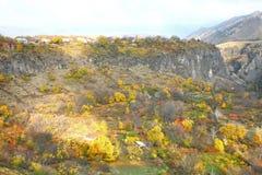 La saison d'automne dans la ville d'Erevan, l'Arménie Images stock