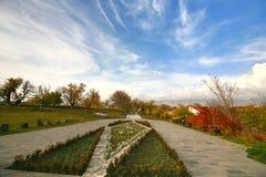 La saison d'automne dans la ville d'Erevan, l'Arménie Image stock