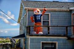 La saison de football d'université s'ajoute à l'amusement et à l'excitation sur la Floride du nord du front de mer image libre de droits