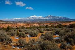 La Sal Mountains Stock Photos
