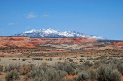 La Sal Mountains Stock Photo