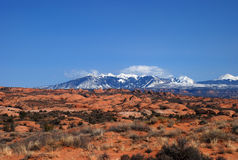 La Sal Mountains Royalty Free Stock Images