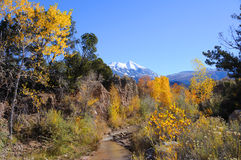 La Sal Mountains in Fall Royalty Free Stock Photography