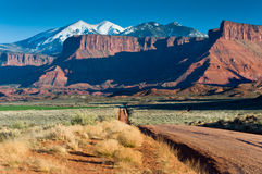 La Sal Mountains near Moab Royalty Free Stock Photo