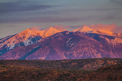 La Sal Mountains at Sunset Royalty Free Stock Photo