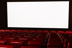 La sala 3D interno del cinematografo rende Fotografie Stock