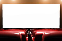La sala 3D interno del cinematografo rende Immagine Stock Libera da Diritti