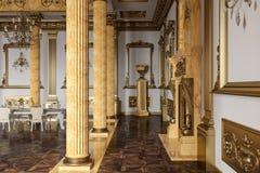 La sala da ballo ed il ristorante nello stile classico 3d rendono fotografia stock libera da diritti