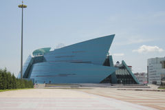 La sala da concerto centrale del Kazakistan a Astana fotografia stock