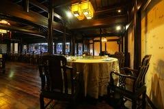 La sala da pranzo cinese Fotografie Stock