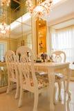 La sala da pranzo di lusso Fotografie Stock Libere da Diritti