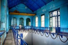 La sala de bombas en el cuarto titánico, Belfast, Irlanda del Norte Foto de archivo libre de regalías