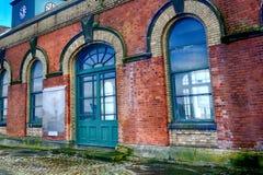La sala de bombas en el cuarto titánico, Belfast, Irlanda del Norte Imágenes de archivo libres de regalías