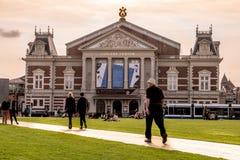 La sala de conciertos de Amsterdam Imagenes de archivo